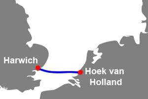 ferry hoek van holland naar Harwich